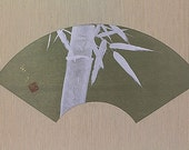 Japanese Fine Art Painting Wall Hanging Scroll Bamboo Kakejiku – 130136