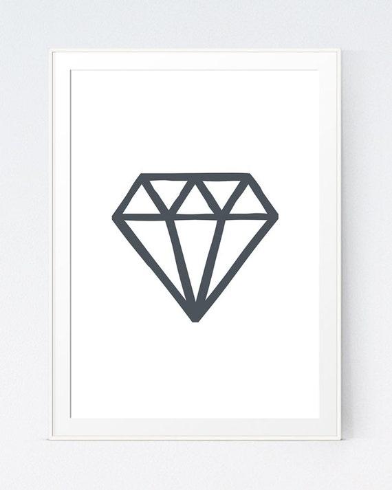 Geometric minimalist diamond diamond wall art minimalistic for Minimalist art decor