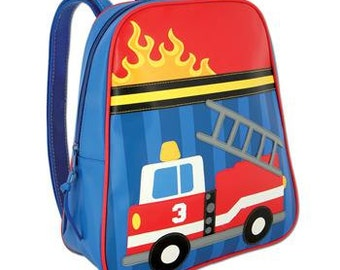 Personalized Stephen Joseph Go Go Firetruck Backpack