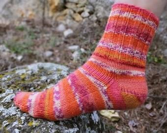 Winter Wool Socks. Winter Hand Knitted Women Socks. Self Stripped Socks Wool Yarn. S Women Size