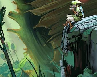 Lost Woods Zelda Print