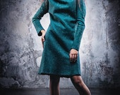 "Felted silk and merino wool dress ""Baltic"""