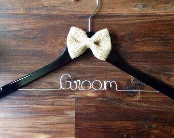 NEW!! Black groom hanger!