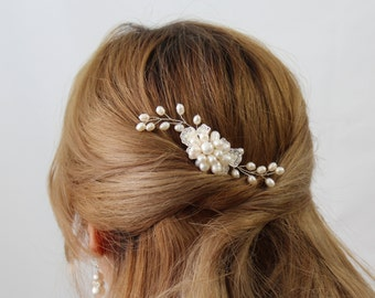 VICTORIA  Hair Comb, Pearl Bridal Hair Comb, Bridal hairpiece, Wedding hair accessories, Bridal Headpieces,