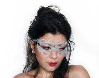 Silk Mask, Crystal Masquerade Mask, Venetian Mask, Bridal Accessories