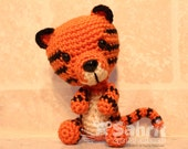 PATTERN Instant Download O-So-Cute Toby the Tiger Crochet Amigurumi
