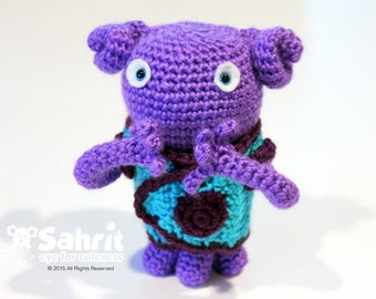 PATTERN Instant Download Purple Buddy Oh Home Dreamworks Crochet Amigurumi Doll