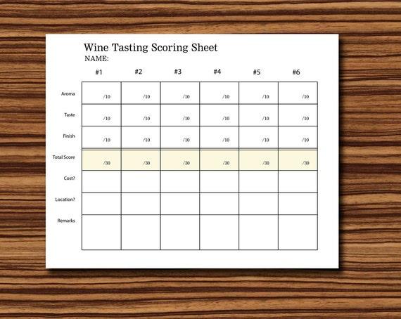 wine tasting sheet template - supplyturbabit blog