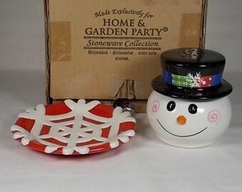 Snowman Stoneware Etsy