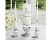 Personalized wedding candles, Unity Candles Personalized, Bride & Groom Candles, Wedding Ceremony Candles, Made in Ireland, UK
