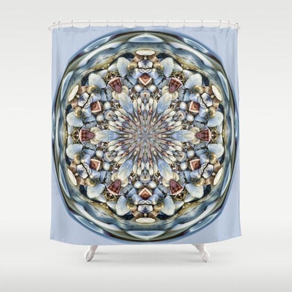 Seashell Orb Shower Curtain Digital Art Photography Bath