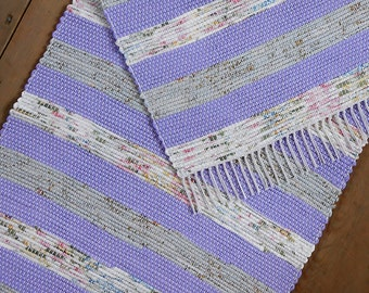 2x4 Rag Rug / Purple, Lavender, Floral