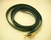 "Vintage 34"" Forest Green Leather Belt (4612)"