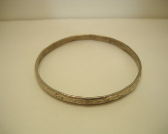 Vintage Mexican Sterling Bangle Bracelet (237)