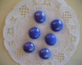 Blue Glass Magnets, Office Magnets, Refrigerator Magnets, Locker Magnets, Paper Holder Magnets, Solid Color