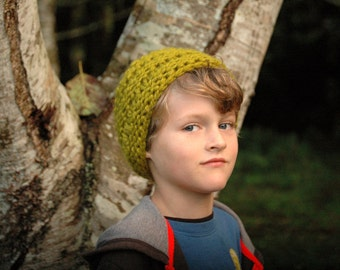 Hand Knit Chunky Cowl, Earwarmer/Headband for Toddler or Child - Lemongrass Green - Ready To Ship