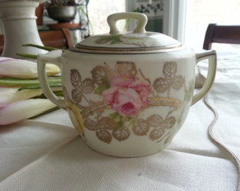 Breathtaking Prussia Sugar Bowl and Lid