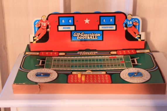 All american football game vintage game room decor for All room decoration games
