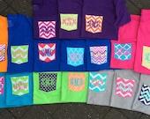 Monogrammed Pocket Tee Shirts