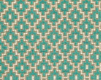 Jade Green Geometric Upholstery Fabric - Light Green Woven Fabric for Furniture - Custom Jade Green Pillows - Jade Green Modern Home Decor