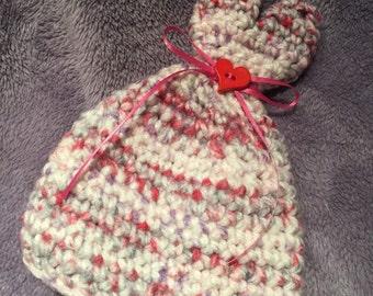 0-3 month Little Sweetheart Crochet Hat