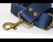 1.25 in wide - Navy Blue adjustable cotton webbing shoulder strap - Cross Body Messenger