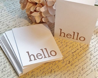 Hello - Mini Note Cards - Thank You Cards - Set of 12
