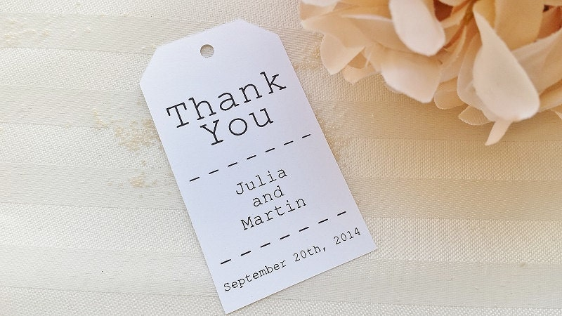 Thank You Tag Just My Type Wedding Favor Thank You Tags