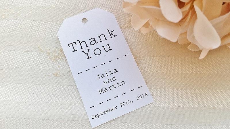Wedding Favor Tags Thank You : Thank You Tag Just My Type Wedding Favor Thank You Tags