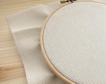 16 count Aida Cloth Cross Stitch Fabric | 100 percent cotton Aida Fabric in Lambswool (16 ct)