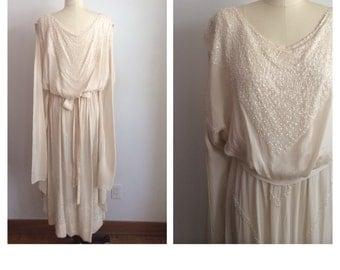 1920's Silk Wedding Gown
