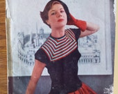 Vintage 1950 Stitchcraft magazine with knitting patterns and other crafts.  knitting, crochet etc