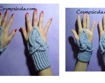 Celtic  triangle crochet.Gloves. Custom available in all sizes and colors