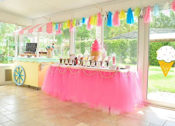 Tulle Table Tutu Skirt YOU PICK COLORS By Bailey Had A Party