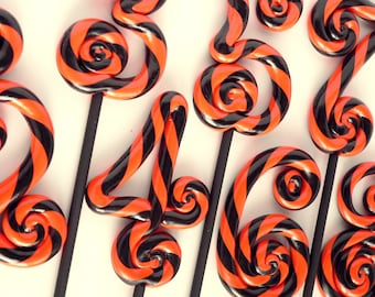 TABLE NUMBERS Swirl Clay Lollipop Circus Carnival Candyland Wedding or Birthday Decoration