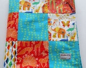 Minky Baby Patchwork Blanket Quilt Gender Neutral Choice of 2 sizes Michael Miller Origami Oasis--Made to Order
