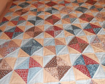 Queen Sized Quilt  - Half Square
