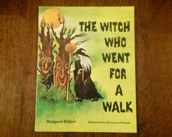 Vintage 1981 Witch Who Went For A Walk Book Hillert Beginning To Read Series Kids Children Ghosts Monsters