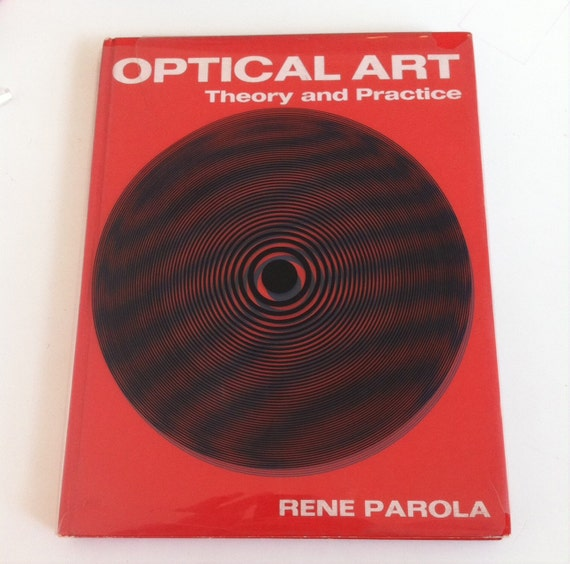 1969 Optical Art book Parola MID CENTURY MODERN Op Mod
