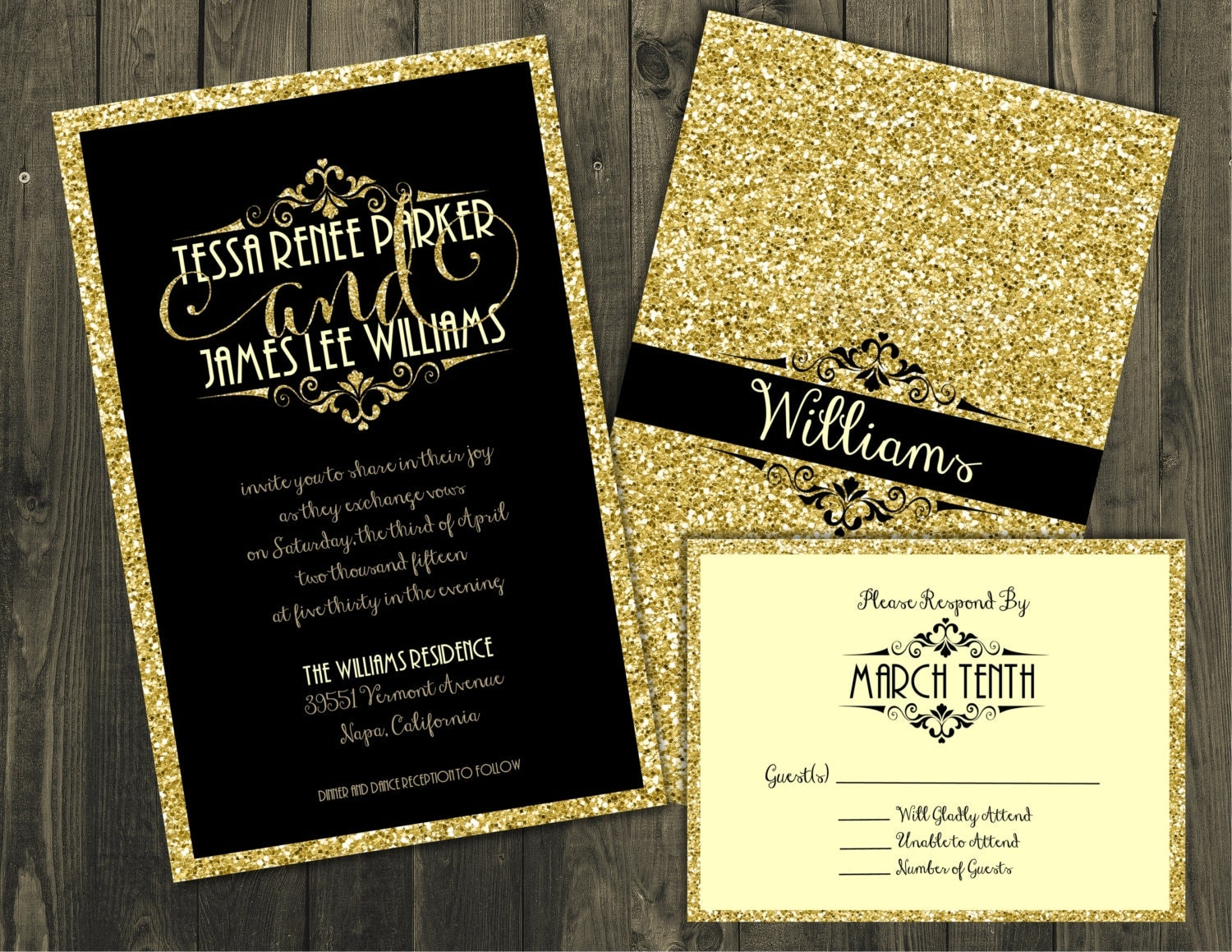 black and gold wedding invitations black and gold wedding invitation wedding invitations 1803