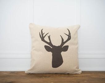 Deer Head Pillow Cover