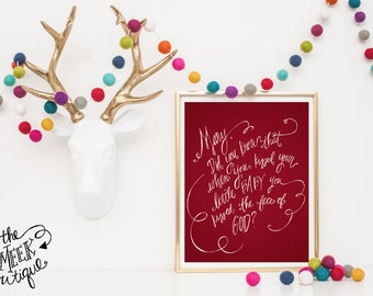 INSTANT DOWNLOAD, Mary Did You Know, Lyrics, Christmas Printable, No. 486