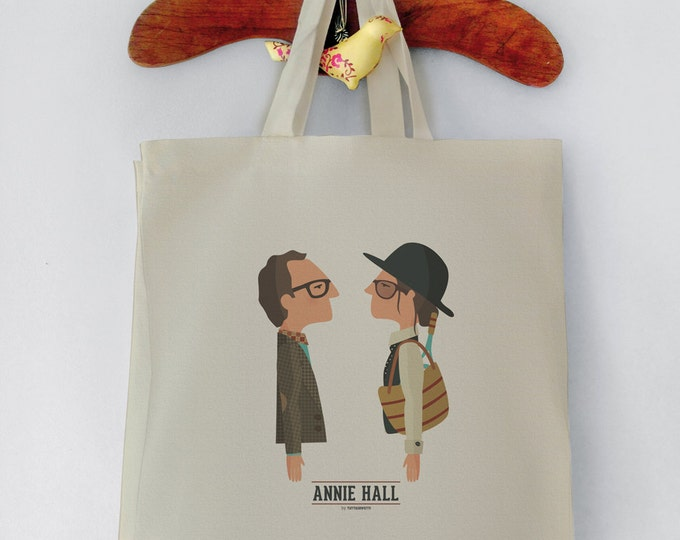Annie Hall Tote Bag woody Allen-Shopping bag. Reusable shopper bag. Grocery bag. Eco tote bag 100% Top Quality Canvas Cotton Digital printed