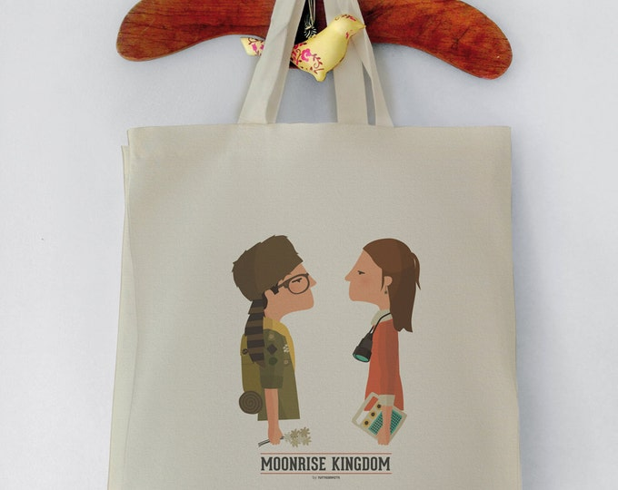Moonrise Kingdom Tote Bag Wes Anderson-Shopping bag. Reusable shopper bag. Grocery bag. Eco tote bag. 100% Top Quality Canvas Cotton.
