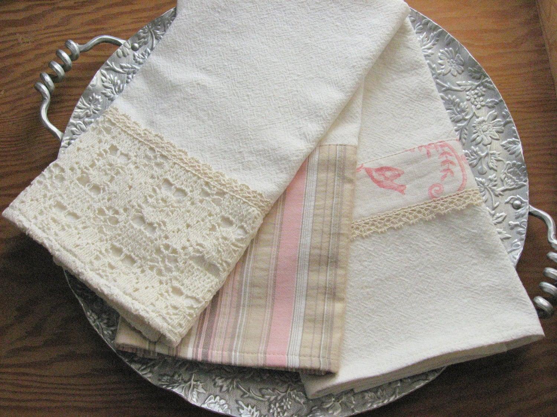 Cotton Tea Towels Dish Towels Kitchen Towels By Kikiandpookyltd