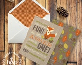 Woodland or Red Fox Birthday Party Invitation