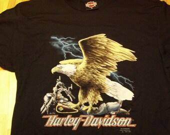 Harley Davidson Tshirt 1991 Original Vintage Deadstock t shirt - Screaming Eagle on Bike tee HD William Harley Knucklehead Indian Buell