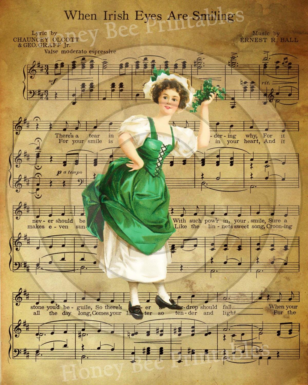 irish eyes sheet music pdf