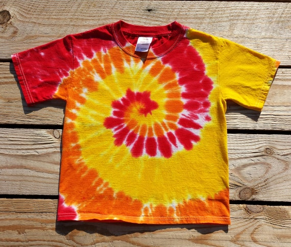 Toddler Red Orange And Yellow Tie Dye Spiral Spiral 2t 3t 4t