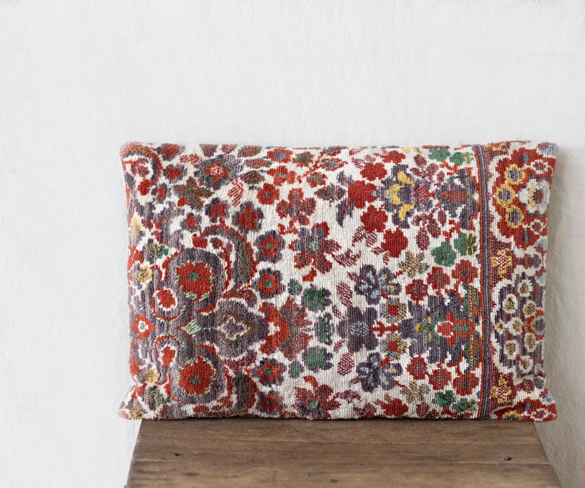 Velour Throw Pillows : Uzbek velour pillow 12 x 18 SINGLE throw pillow breakfast